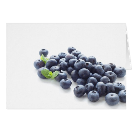 Blueberry isolated on white カード
