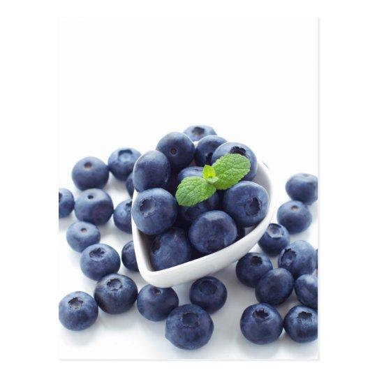 Blueberry isolated on white ポストカード