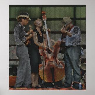 Bluegrassのトリオ ポスター