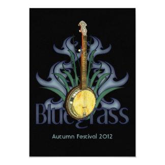 Bluegrassのバンジョーのパーティーかイベントの招待状 カード