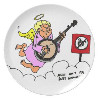 Bluegrassのバンジョーのユーモア プレート