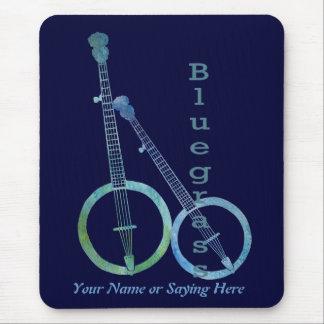 Bluegrassのバンジョー マウスパッド