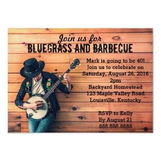 BluegrassのバーベキューBBQの誕生日のパーティの招待状 カード