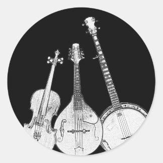 BluegrassバンドB&W ラウンドシール