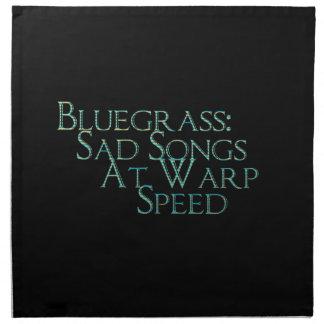 Bluegrass: ゆがみの速度の悲しい歌 ナプキンクロス