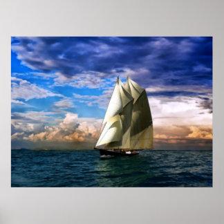 Bluenoseのスクーナー船 ポスター