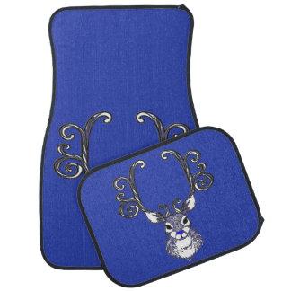 Bluenoserの青い鼻のトナカイのシカのカーマット カーマット