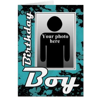 BlueSplatの誕生日の男の子カード カード