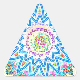 BlueStarのなだめる芸術: あなたが愛する芸術を買って下さい 三角形シール