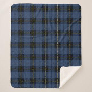BlueTartanの格子縞のSherpaクラシックな毛布 シェルパブランケット