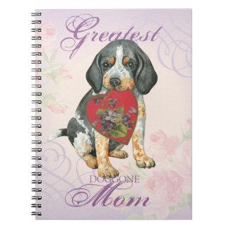 Bluetickのハートのお母さん ノートブック