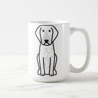 BluetickのCoonhound犬の漫画 コーヒーマグカップ