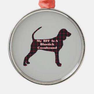 BluetickのCoonhound BFF メタルオーナメント