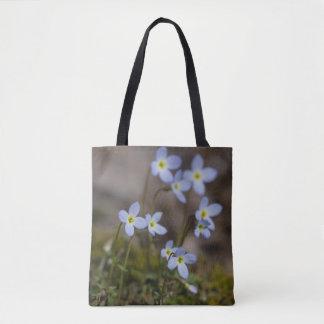 Bluetsの小さい紫色によっては野生の花のトートバックが開花します トートバッグ