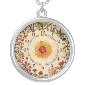 Blumenuhrの花の時計のネックレス2 シルバープレートネックレス
