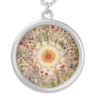 Blumenuhrの花の時計のネックレス シルバープレートネックレス