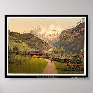 Blümlisalp、Bernese Oberland、スイス連邦共和国 ポスター