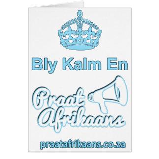 Bly Kalm En Praatアフリカーンス カード