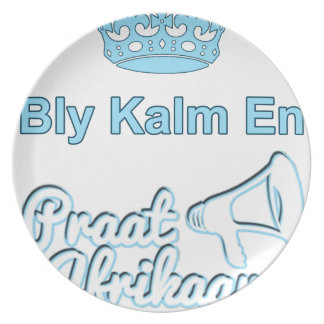Bly Kalm En Praatアフリカーンス プレート