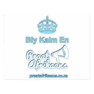 Bly Kalm En Praatアフリカーンス ポストカード