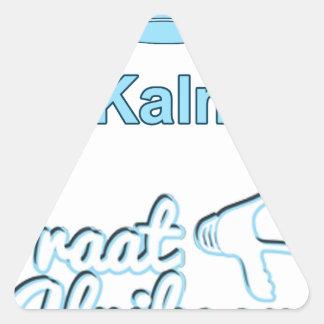 Bly Kalm En Praatアフリカーンス 三角形シール