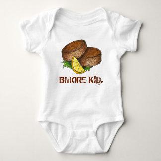BMOREの子供のボルティモアメリーランドのクラブケーキCrabcake ベビーボディスーツ