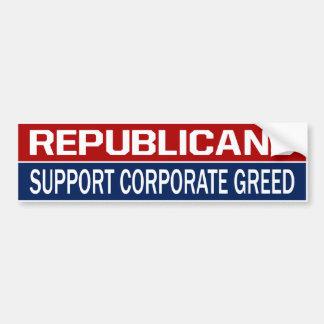 BMPの共和党員サポート企業のな貪欲 バンパーステッカー