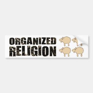 BMPの組織化された宗教(ヒツジ) バンパーステッカー