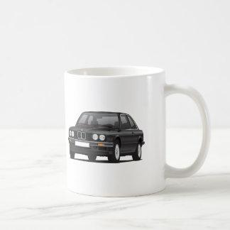 BMW 3つのシリーズ、E30の黒い絵 コーヒーマグカップ