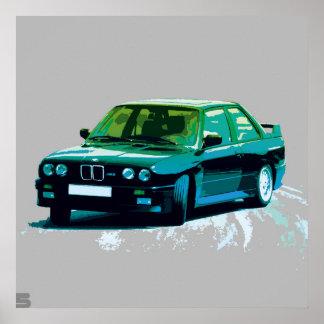 BMW M3 E30 ポスター