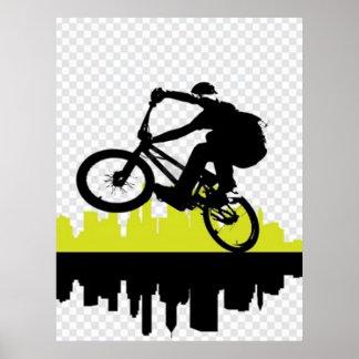 BMXのサイクリストポスター ポスター