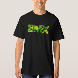 BMXのステンシルデジタル迷彩柄のティー Tシャツ