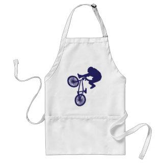 BMXのバイクもしくは自転車に乗る人 スタンダードエプロン