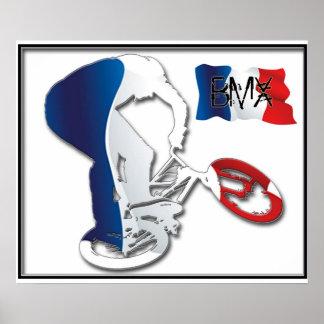 BMXのフランス語は3つの版権カレンJウィリアムスのスタイルを作ります ポスター