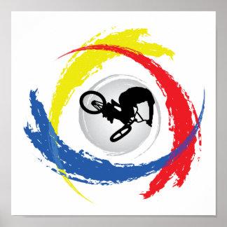 BMXの三色の紋章 ポスター
