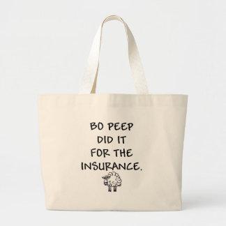 Boののぞき見は保険のためのそれをしました ラージトートバッグ