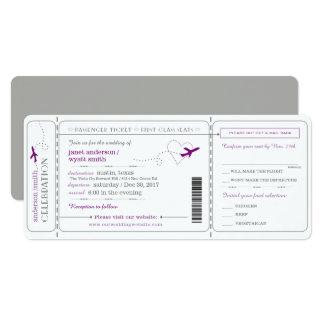 Boarding Pass Travel Ticket Wedding Invitation カード