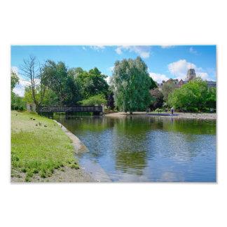 boating湖の理事の公園、ロンドンのプリント フォトプリント