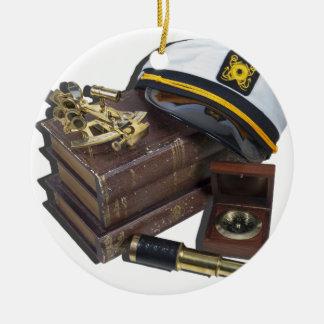BoatingBooksCaptainSextantCompassTelescope042113.p セラミックオーナメント