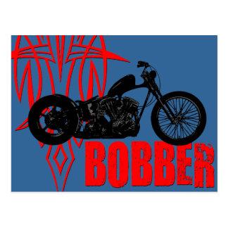 Bobberのモーターバイク ポストカード
