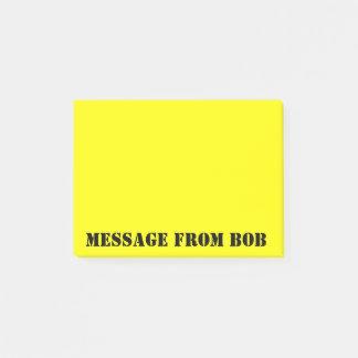 Bob's Notes Dayglow Yellow ポストイット