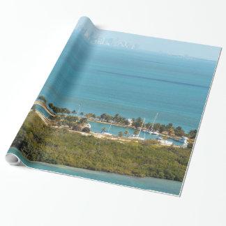 Bocaチタの鍵およびマイアミのスカイライン ラッピングペーパー