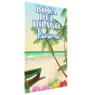 Boca del Dragoパナマのビーチ旅行ポスター キャンバスプリント