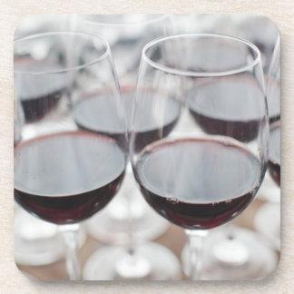 Bodega Marques de Riscalのワイナリー、ワインの試飲3 コースター