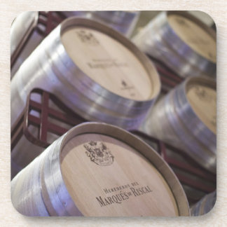 Bodega Marques de Riscalのワイナリー、ワイン貯蔵室2 コースター