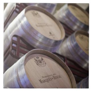 Bodega Marques de Riscalのワイナリー、ワイン貯蔵室2 タイル