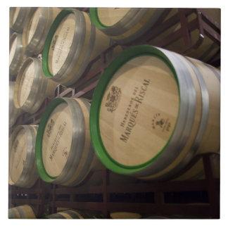 Bodega Marques de Riscalのワイナリー、ワイン貯蔵室 タイル