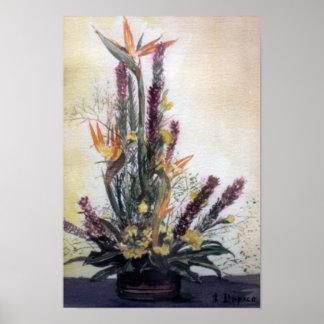 Bodegón de flores/Still life of flowers ポスター