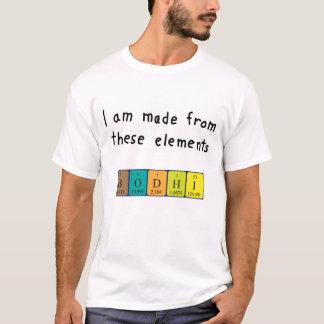 Bodhiの周期表の名前のワイシャツ Tシャツ
