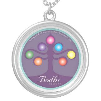Bodhiの木のネックレス シルバープレートネックレス